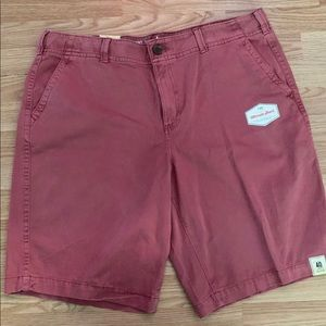 Men's Rusty Pink Flat Front Shorts NWT Size 40